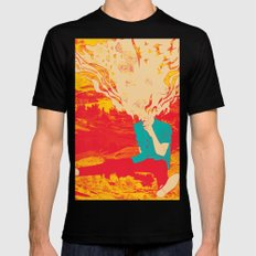 Mountain High SMALL Black Mens Fitted Tee