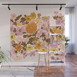 vintage wildflowers Wall Mural