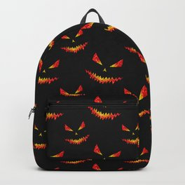Sparkly Jack O'Lantern face Halloween pattern Backpack