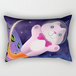 Captain Space Kitty Of The 24th Century Rectangular Pillow