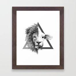 Lion and Lamb Framed Art Print