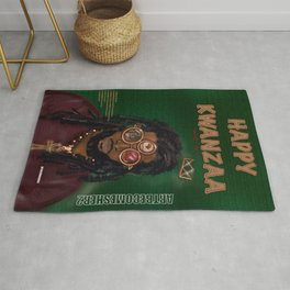 KWANZAA Gifts and Cards for a King Rug