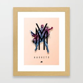 Heroes and Villains Series 2: Magneto Framed Art Print