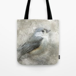 Tufted Titmouse Bird Tote Bag