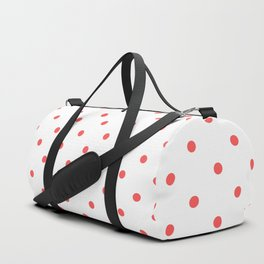 Dotted (Red & White Pattern) Duffle Bag