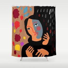 autumnal melancholia Shower Curtain