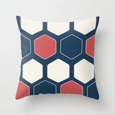 Hexed Navy Throw Pillow