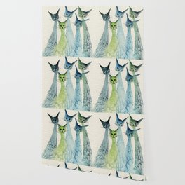 Lakeland Whimsical Cats Wallpaper