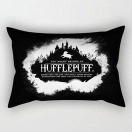 Hufflepuff B&W Rectangular Pillow