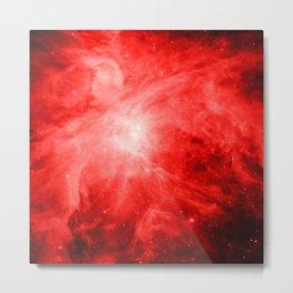Red orion nebula Space Metal Print