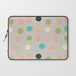 gold and tutti fruit polka dots Laptop Sleeve