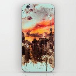 Sao Paulo - WaterColor 002A iPhone Skin