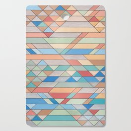 Triangle Pattern no.2 Colorful Cutting Board