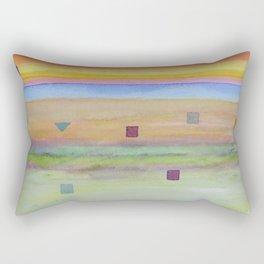 Romantic Landscape combined with Geometric Elements Rectangular Pillow