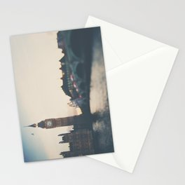 sunset over the city ... Stationery Cards