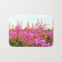 Field of lupins and wildflowers on Brier Island, Nova Scotia Bath Mat