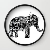ganesh Wall Clocks featuring Ganesh by doctusdesign