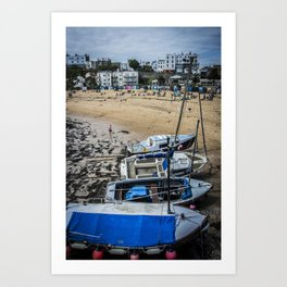 Boats at the Sea - Colour Art Print