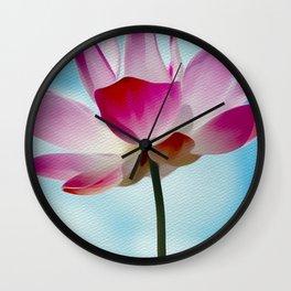 Flower Watercolour Wall Clock