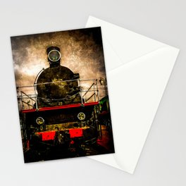 Vintage Steam Engine Locomotive - Old Timer Stationery Cards