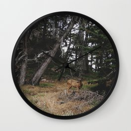 Lobos Deer Wall Clock