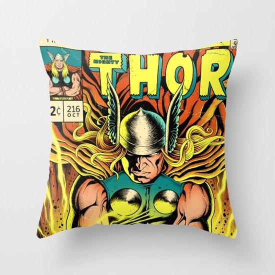 Unleash the Lightning! Throw Pillow