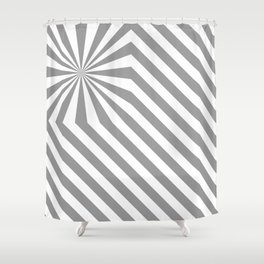 Stripes explosion - Grey Shower Curtain