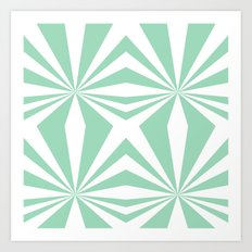 Mint Starburst #2 Art Print