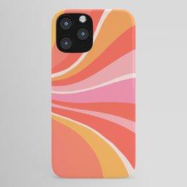 Sunshine Swirl – Pink & Peach Palette iPhone Case