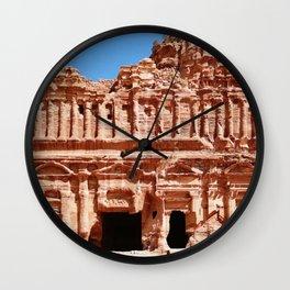 Palace of Petra Nabatean Kingdom Ruins Wall Clock
