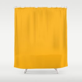 Solid Bright Beer Yellow Orange Color Shower Curtain