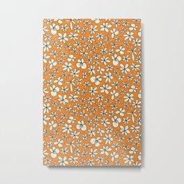 garland flowers orange Metal Print