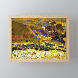 1922 Classical Masterpiece 'Autumn Morning, Vernon' by Pierre Bonnard Framed Mini Art Print