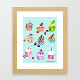 Cupcake Parade Framed Art Print