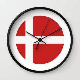 Denmark flag Wall Clock