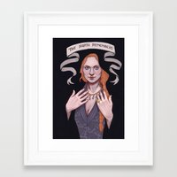 sansa Framed Art Prints featuring Sansa by Sara Meseguer