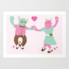 Monster Dance Art Print