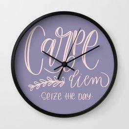 Carpe diem - seize the day Wall Clock