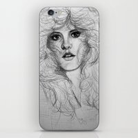 stevie nicks iPhone & iPod Skins featuring Stevie by Art by Klaudia