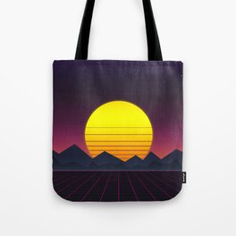 Vaporwave\\Mountain Tote Bag