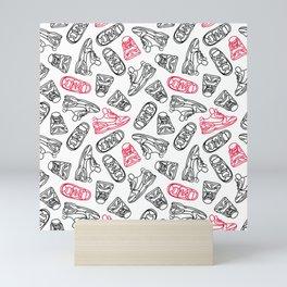 Sneakers // Pink & Black Mini Art Print