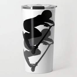 Scooter Boy - Stunt Scooter #5 Silhouette Travel Mug
