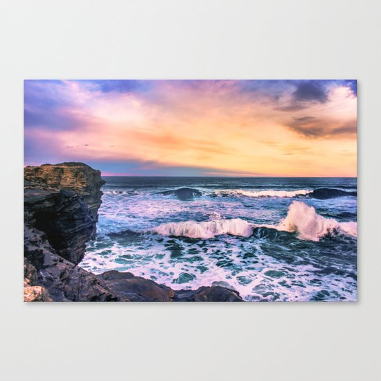 Sunset of the Bay of Biscay Canvas Print