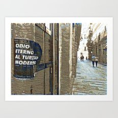 Barcelona digital street photography + Dreamscope Art Print