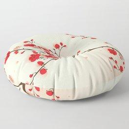 Oriental plum blossom in spring 009 Floor Pillow