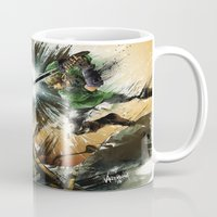 battlefield Mugs featuring The Battlefield by Fresh Doodle - JP Valderrama