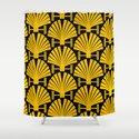 Art Deco Gold Palm Fan Pattern by dec02