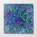 Watercolor . Blue flowers . by fuzzyfox85