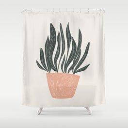 snake plant Shower Curtain