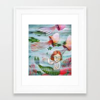 siren Framed Art Prints featuring SIREN by Lauraballa StudioArte